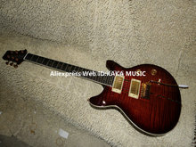 Wholesale Guitars Newest Brown Tiger Stripe Santana Electric Guitar Free Shipping(China)