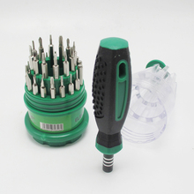 Tool Screwdriver Easy to Carry Can Open iPhone 0.8mm New 31 in 1 Precision Handle Screw Mobile Phone Repair Kit(China)
