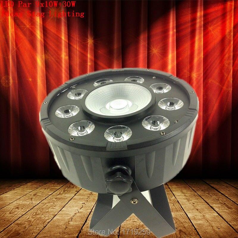 Free Shipping 6pcs/lot LED Par 9X10W RGB+30W RGB COB DMX Stage Lights Business Lights High Power Light with Professional<br><br>Aliexpress
