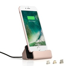 3 in 1 Magnetic Dock Station Charger For iPhone 5 5S 6S 7 Plus Support Data Transfer