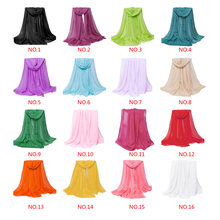 2016 fashion chiffon scarf wrap shawl for women solid color summer beach Long scarves muslim foulard femme Scarves