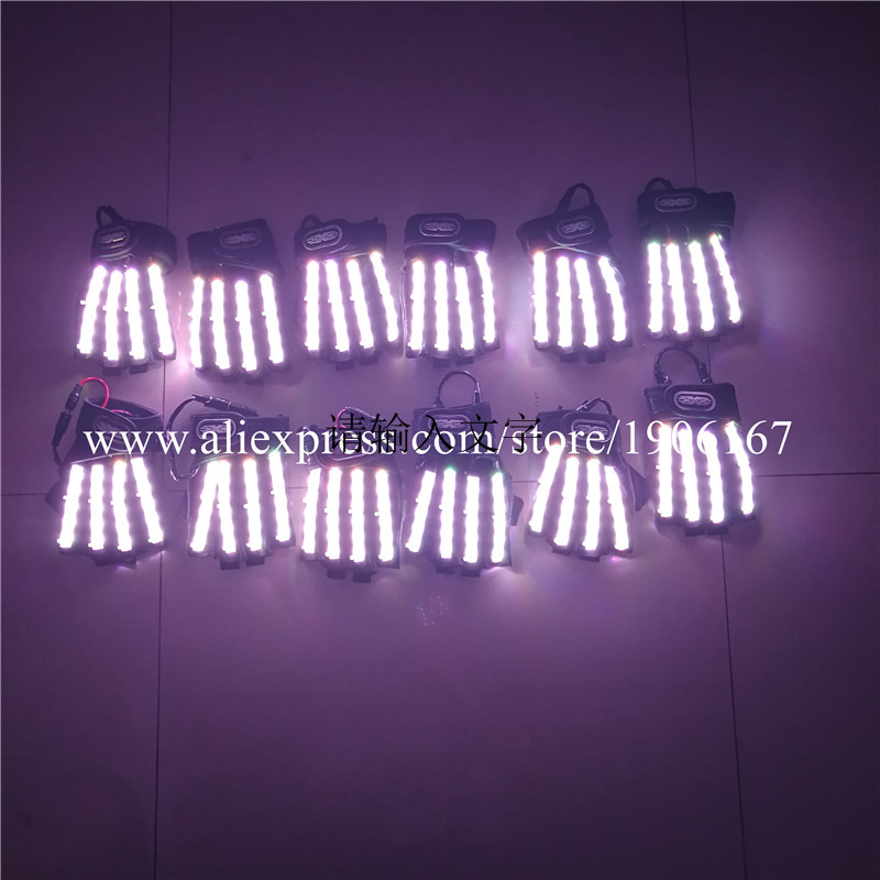 Led Gloves Stage Show Props LED Light up Gloves Glow Party Supplies01