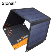 Xionel 5V 16W New Solar Panel Charger Power Bank for iPhone for Xiaomi Mobile Phone with Dual USB Port Solar Cell for Outdoor(China)