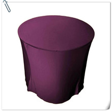 Factory Price !10pcs Many Colors Spandex Table Cover 2200cm Round Table Cloth FREE SHIPPING Marious(China)