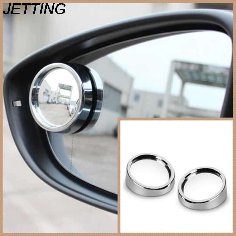 JETTING 2PCS Spot Convex Mirrors Car Truck Vehicle Wide Angle Rearview Rear View Side Blind Spot Convex Mirror