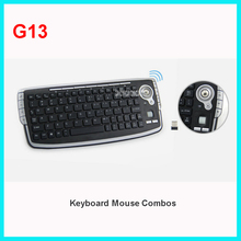 G13 Mini Keyboard 2.4G Wireless Trackball Keyboard with mouse and air mouse combo set for Home TV Android TV Box DVR PC MAC(China)