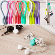 Hot Multifunction Magnet Earphone Cord Winder Cable Holder Organizer Clips 3pcs