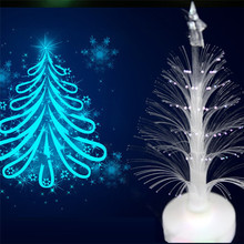 Lovely pet Hot Selling Christmas Xmas Tree Color Changing LED Light Lamp Home Room Party Desk Wall Decor Drop Shipping 0613(China)