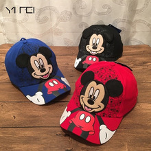 YIFEI Autumn Baby Cartoon Mickey Mouse Mickey Duck BOY Travel Holiday Baseball Cap Mickey Minnie Children Hat Bone Masculino(China)