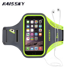 HAISSKY Sport Arm Band Case For iPhone 6 6S 7 Plus Samsung Galaxy S6 S7 Edge S8 Brassard Cover For Xiaomi mi5 Huawei P9 Plus