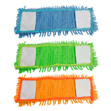 4Pcs Replacement Flat Mop Head Refill for Mops Floor Cleaning Pad Chenille -W2 10