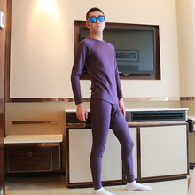Mens Thermal Underwear Set Winter Top+Long Johns Fleece Warm Manta Termica Para Emagrecimento High Quality Men Underwear Set(China)