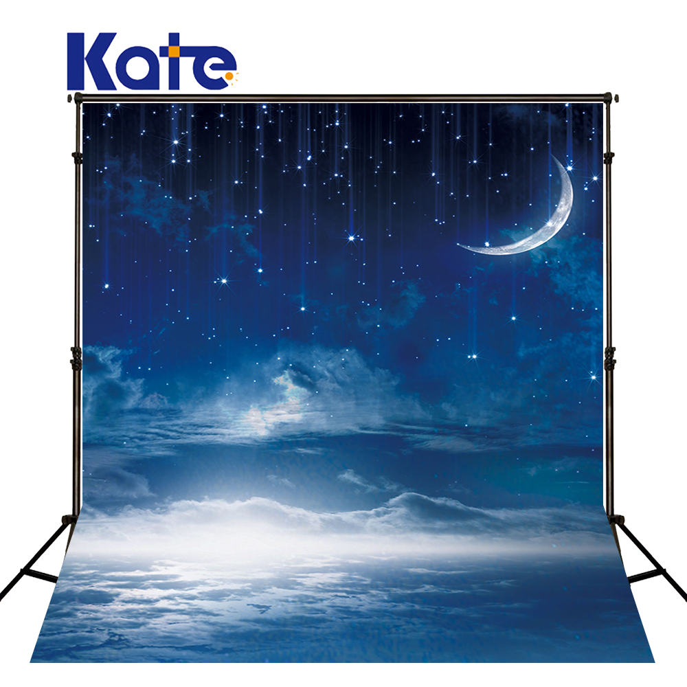 KATE Backdrop 8x8ft Photography Backdrops Naturism Children Photos Bright Star Blue Background Christmas Baby Background<br>