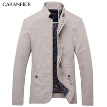 CARANFIER 2017 New Arrival Elite Men Jacket High Quality Formal Coat Slim Fit Tactical Outerwear Comfortable Soft Feeling M-5XL(China)