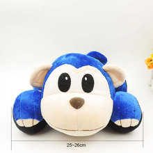 25CM Cute Stuffed Car Shaped Monkey Plush Soft Toys Animated Automobile Children Kids Toy Baby Boys Birthday Gifts