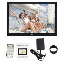 Digital Photo Frame Electronic Album 15 Inches Front Touch Buttons Multi-language LED Screen Pictures Music Video(China)