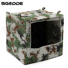 Hot Sale 40x40x40cm Outdoor Hunting Foldable Camouflage Camo Box-type Airsoft Slingshot Shooting Game Target Case Box Holder(China)