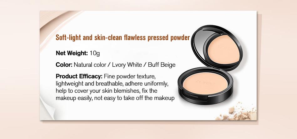 ROREC Mineral Pressed Face Powder Concealer Base Makeup Performance Wear Powder Foundation Compact Powder Makeup Illuminator 2