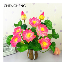 Fresh Flower flowers Artificial flowers Calla lotus lily Green leaves lifelike Flower bonsai bud Home decoration pond plants(China)