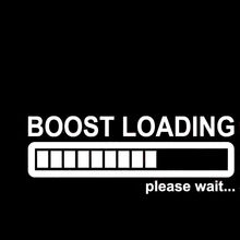 Funny BOOST LOADING PLEASE WAIT Vinyl Car Wall Window Sticker Decal Electric Quantity Battery Indicator Pattern Sliver White