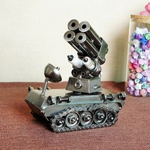 Iron handicrafts metal tank model military simulation model T003(China)