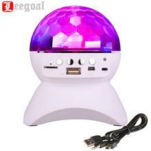 Bluetooth Speaker LED Crystal Ball Built-In Light Show Stage Studio Effects Lighting RGB Color Changing support TF card usb AUX(China)