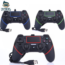 USB Wired PS4 Controller for PS4 Vibration Joystick Gamepad PS4 Game Controller for Play Station 4 3 Colors(China)