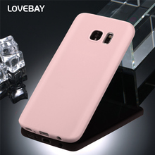Lovebay Phone Case For Samsung Galaxy S6 S6 Edge S7 S8 S8 Plus Fashion Candy Colors Soft TPU Silicon Phone Case Back Case Bags