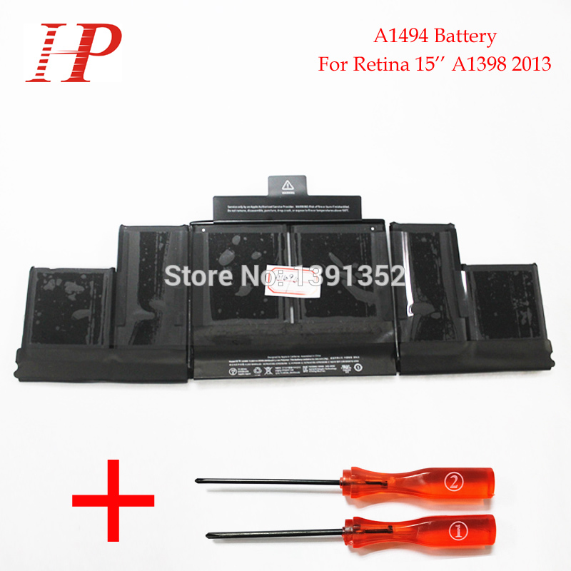 Original New Qaulity A1494 Rechargeable Battery For Macbook Pro Retina 15 A1398 Battery 2013 11.26V 95Wh With Screwdriver<br><br>Aliexpress