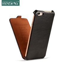 Ferising Case For iPhone 5 5S 6 6S 7 (4.7'') Flip Case Leather Cover Lichee Pattern Coque Mobile Phone Bags Cases Funda P001