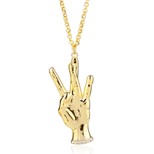 dongsheng New Gold Mano Cornuto Pendant Necklace Boxing Chain Rock Horned Hand Charm Necklaces Hip Hop Stars Jewelry Gift -30