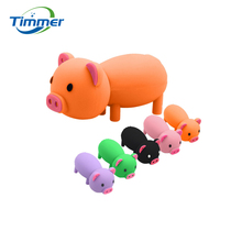 100% really capacity rubber cartoon pig USB2.0 Flash Drives thumb pendrive memory stick U disk High speed/ wholesale 64GB