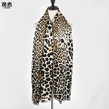 Europe Fashion Leopard Print Scarves Fall Winter Cotton Warm Scarf Shawl Women's Big Size Pashmina 2017 Bufandas Mujer M802