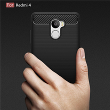 Buy Shockproof Armor Carbon Fiber Cases Xiaomi Redmi 4 Case TPU Cover Soft Silicone Coque Fundas Xiaomi Redmi 4 Cover P35 for $2.75 in AliExpress store