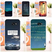 EJGROUP For Samsung Galaxy A3 A5 A7 J1 J2 J3 J5 J7 2015 2016 2017 Soft Fashion Cell Case Star Ed Sheeran Song Quotes(China)
