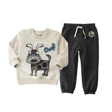 2017 fashion bear clothing sets for kids clothes , children 3-6Y T- shirt+ pant for Apring autumn casual child clothing suits(China)