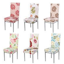 Polyester Spandex Dining Chair Covers for Wedding Party Chair Cover Removable Stretch Elastic Slipcover Dining Chair Seat Covers(China)
