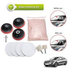 "Different 11PCS 3"" Pad 230g Cerium Oxide Windscreen Scratch Remover Glass Polishing Kit"