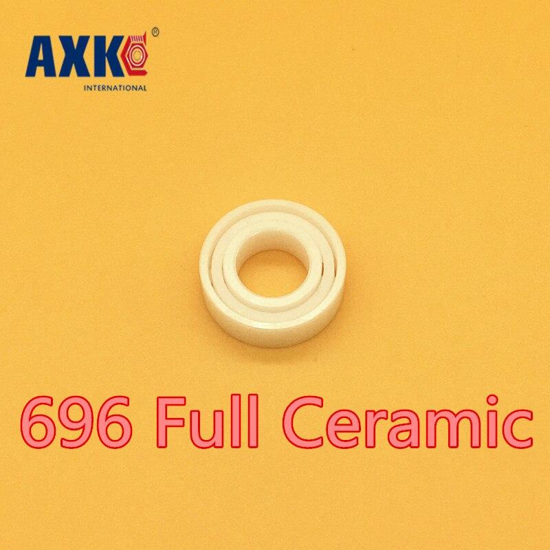 Axk 696 Full Ceramic Bearing ( 1 Pc ) 6*15*5 Mm Zro2 Material 696ce All Zirconia Ceramic 619/6 Ball Bearings<br>