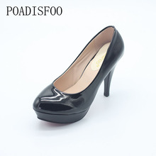 POADISFOO 2017 New Women's Shoes Sexy White Pumps Platforms Pumps Four Seasons Solid Shoes Thin Heel shoes .DFGD-05B2(China)