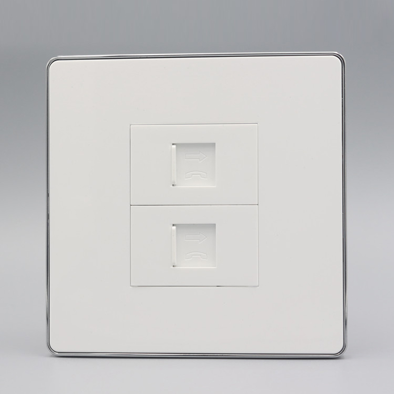Two Socket RJ11 Wall Panel pic 1