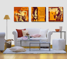 3 Panel Modern Giclee Music Dancer Vintage Painting Modular Pictures  Cuadros Decorations Wall Pictures For Living Room Wall