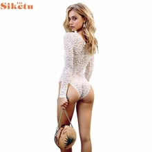 2017 Sexy Female Lace One Piece Swimwear Summer Beach Wear Swimsuits Women's Bathing Suits Swimsuit Decc23