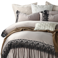 French 100% egyptain cotton embroidery  bedding set lace duvet cover flat sheet pillowcase /bed linen/quilt cover suite for new