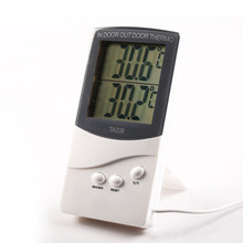 1pcs White Digital LCD Indoor/ Outdoor Thermometer Temperature Meter with Memory Function(China)