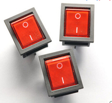 5pcs/KCD4-202 25*31 4 Pin 2 files Belt lamp Rocker switch(China)