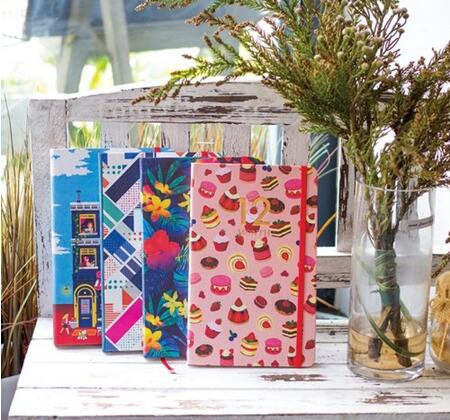 Delicate colorful floral cake house fashion design hardcover band planner 12 month diary 222 pages 4 types Korean journal gift<br><br>Aliexpress