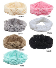 New   lace Headband    Elastic Headwrap  Cross Turban Wide Twisted Hair Accessories