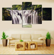 Large Modern Oil Paintings dancer music flower landscape on Canvas Handmade Still Living 5 Panels/set Decor Office Fine Artwork2