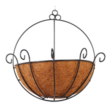 Wall Decoration Liner Coconut Palm Metal Hanging Baskets Iron Art Wall-mounted Rattan Plaited Flower Garden Succulent Plants(China)